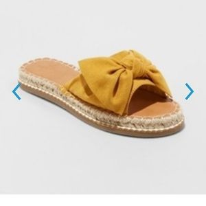 Sigma Espadrille Knotted Bow Sandal Yellow